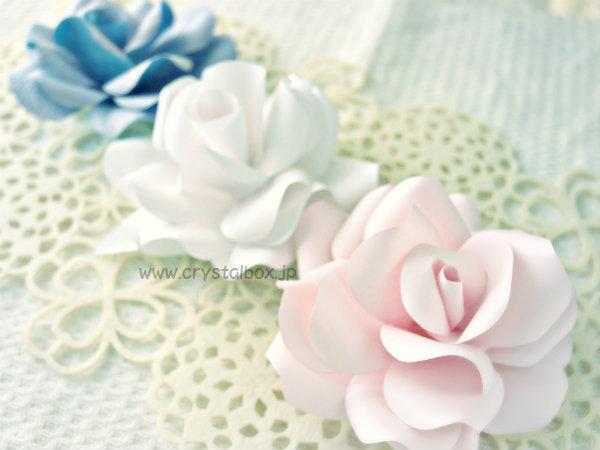 テンプレート付きで簡単バラのペーパーフラワー : 【紙の花 ...