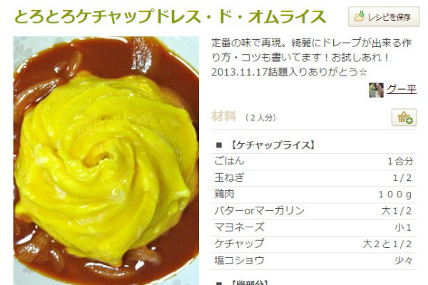 とろとろケチャップドレス・ド・オムライス by グー平 [クックパッド] 簡単おいしいみんなのレシピが207万品